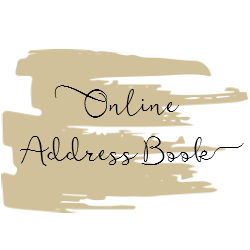 online address book for wedding